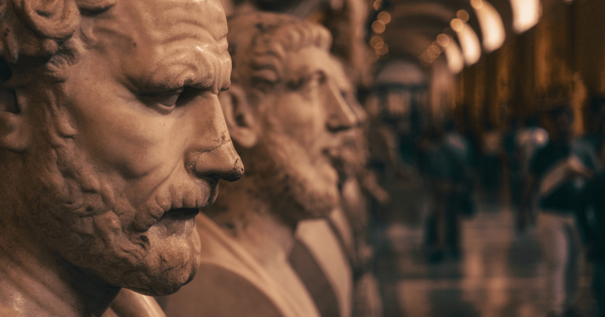 A bunch of busts of Greek people, probably.